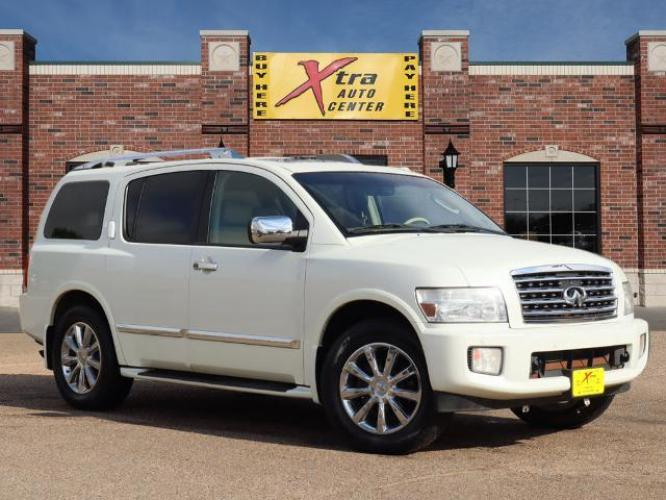 2010 Tuscan Pearl INFINITI QX56 Base (5N3ZA0NE3AN) with an 5.6 8 Cylinder Fuel Injected engine, Automatic transmission, located at 807 W Foster Ave, Pampa, TX, 79065, (806) 665-9872, 35.532017, -100.968842 - Photo #0